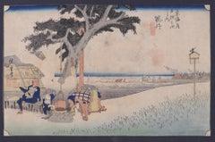 Fukuroi Dejaya No Zu - Orignal Woodcut by Utagawa Hiroshige - 1832