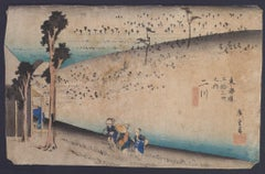 Futagawa Sarugababa - Original Woodcut by Utagawa Hiroshige - 1833