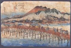 Keishi (Kyoto) - Orignal Woodcut by Utagawa Hiroshige - 1833 ca