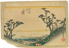 Shirasuga, Shiomi -zaka zu - Original Woodcut by Utagawa Hiroshige - 1833/1834