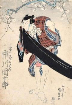 Kabuki Actor - Original Woodcut by Utagawa Kunisada - 1830 ca.
