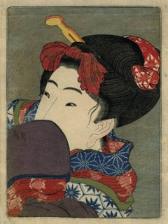 Shunga (Bijin hiding her face)
