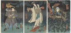 Toyokuni III Utagawa, Ukiyo-e, Japanese Woodblock Print, Ghost, Edo Period