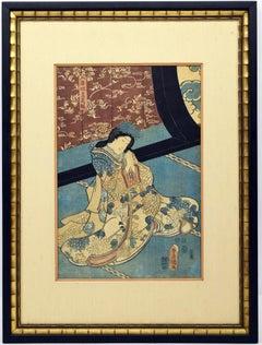 Utagawa (Kunisada) Toyokuni III Woodblock Print c. 1850
