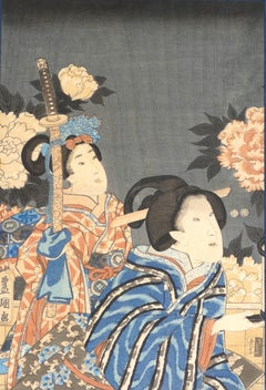 Woman - Original Woodcut by Utagawa Kunisada - 1830 ca.