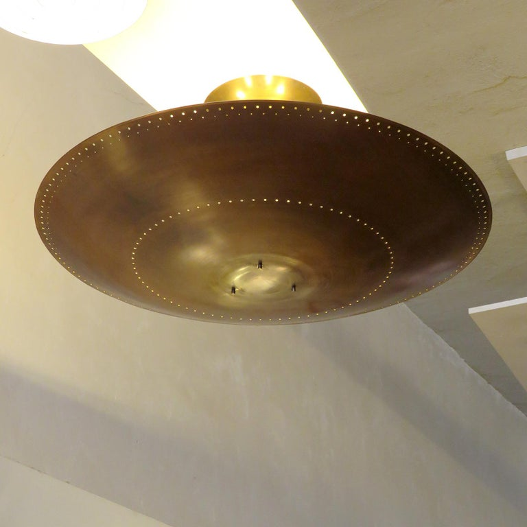 Brass Utah-30 Ceiling Light by Gallery L7 For Sale