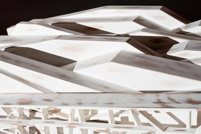Utopia Anrichte Sideboard in weiß lackiert Holz handgefertigt 3