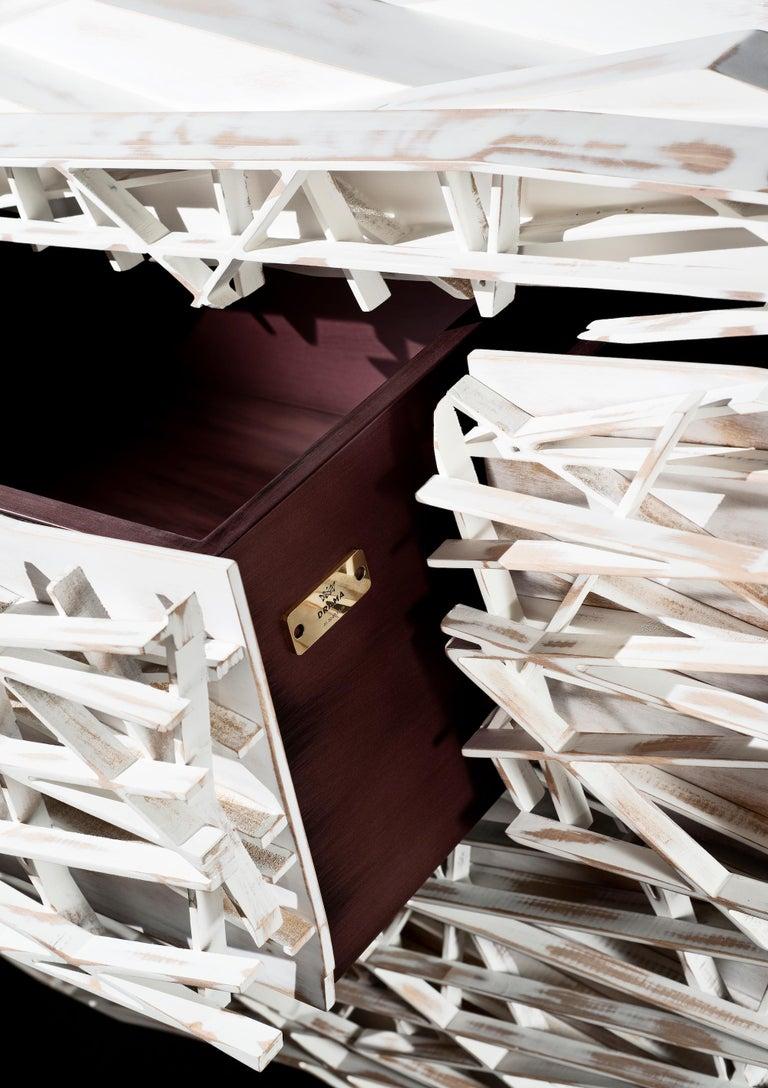 Utopia Anrichte Sideboard in weiß lackiert Holz handgefertigt 6