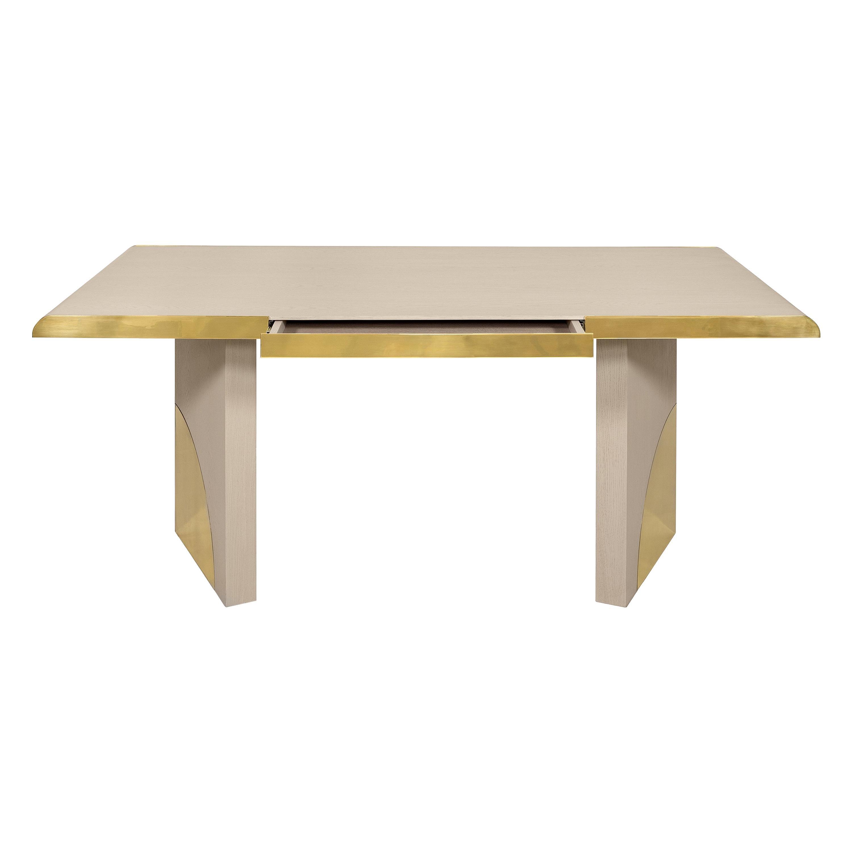 Utopia Desk, Cream Oak and Polished Brass, InsidherLand by Joana Santos Barbosa
