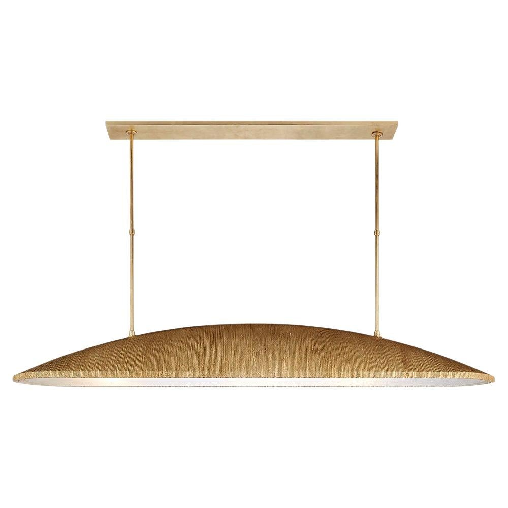 Utopia Large Linear Pendant in Gold Textured Metal by Kelly Wearstler
