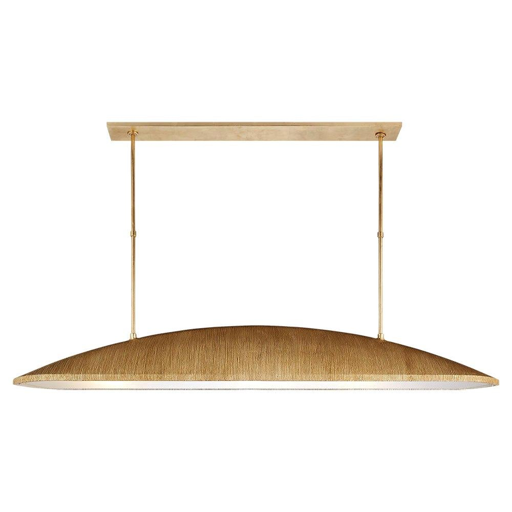 Utopia Large Linear Textured Pendant with Frosted Glass by Kelly Wearstler