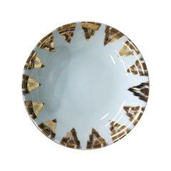 Uzbek Gold Porcelain Dessert Plate