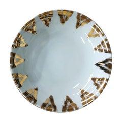 Uzbek Gold Porcelaın Dinner Plate