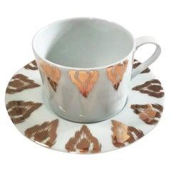 Uzbek Gold Tea Cups, Set of 2