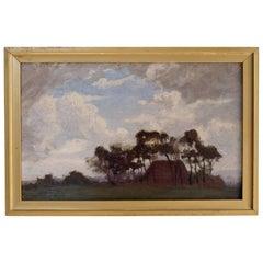 V. M. Biddulph Oil Painting, British Post-Impressionist, Landscape Wall Art 1900