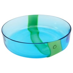 V. Nason & C. of Italy Blue and Green Murano Glass Bowl