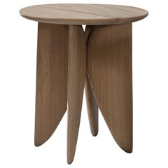 V, White Oak Stool from Collection Noviembre by Joel Escalona