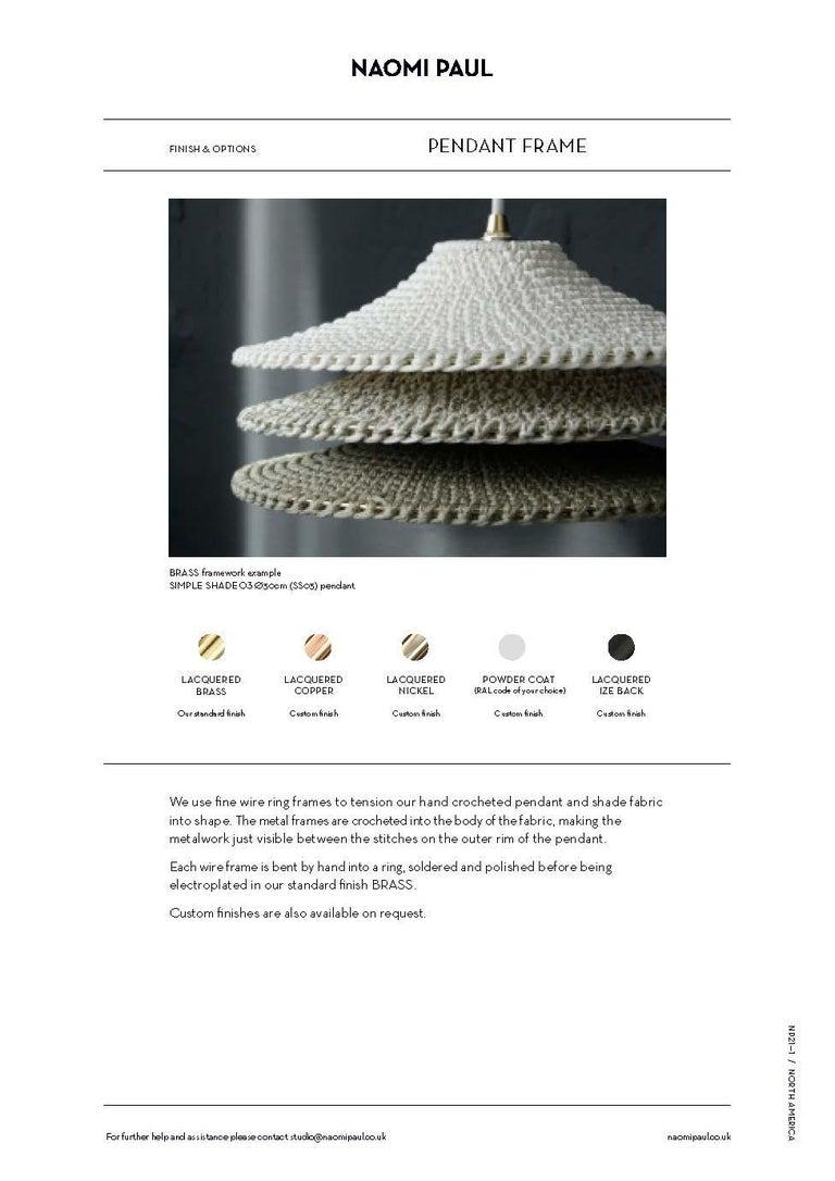 V2 Glück Ø50cm / 19.6in. Pendant Light, Hand Crocheted in 100% Egyptian Cotton For Sale 1