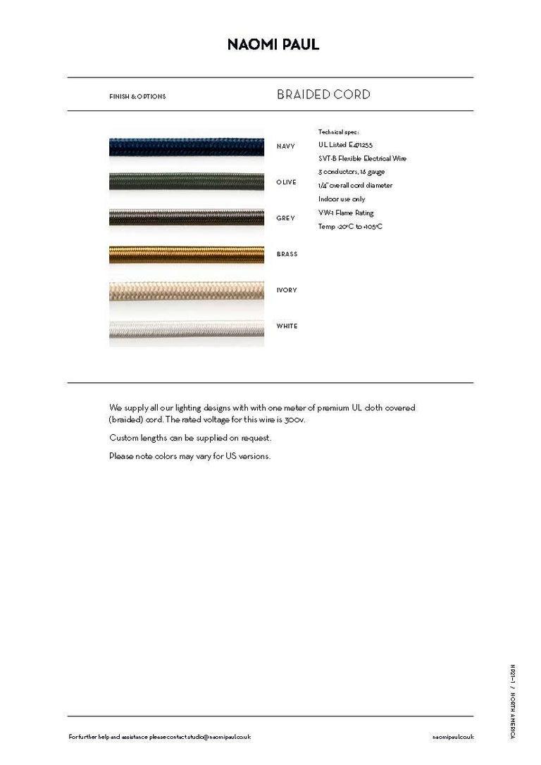 V2 Glück Ø50cm / 19.6in. Pendant Light, Hand Crocheted in 100% Egyptian Cotton For Sale 2
