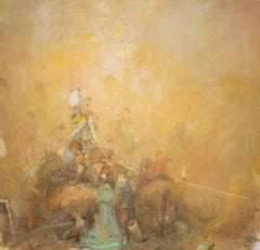 VACHAGAN NARAZYAN, Golden Victory- 35in x 33in, oil on canvas