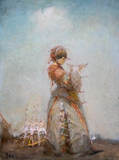 VACHAGAN NARAZYAN,  Small figure, 9.5in x 7in, oil on canvas