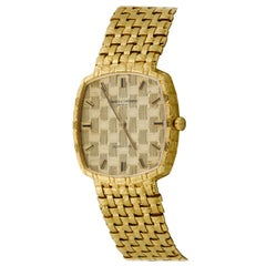 Vacheron Constantin 18 Karat Yellow Gold Basket Weave Watch