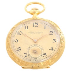 Vacheron Constantin 18 Karat Yellow Gold Enamel Pocket Watch