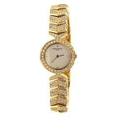 Vacheron Constantin 18k Gold All Diamond Malta Watch
