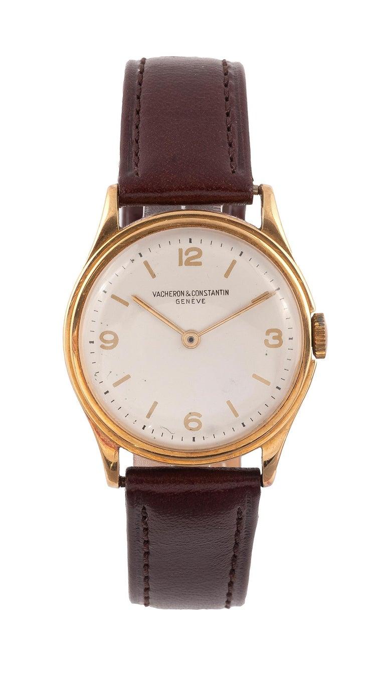 Art Deco Vacheron Constantin 18k Gold Manual Wind Wristwatch For Sale