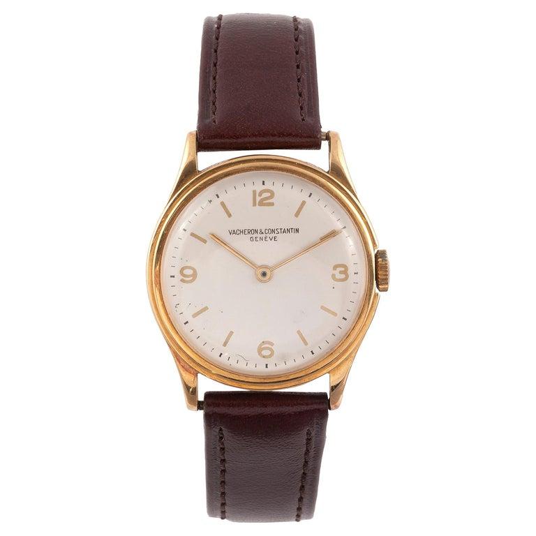 Vacheron Constantin 18k Gold Manual Wind Wristwatch For Sale