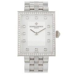 Vacheron Constantin 18K White Gold Diamond Ladies Watch 25590/Q01G-9760