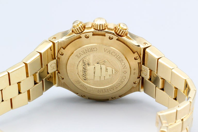 Handsome 18K yellow gold chronograph wrist watch from the