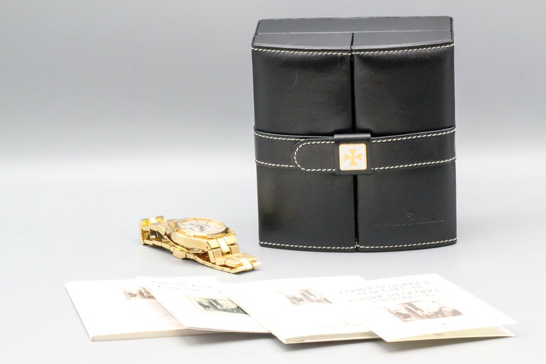 Vacheron Constantin 18 Karat Yellow Gold Overseas Men's Chronograph Wristwatch 1