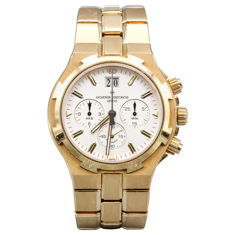 Vacheron Constantin 18 Karat Yellow Gold Overseas Men's Chronograph Wristwatch