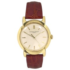 Vacheron & Constantin 1950s Gold and Manual Wind Large Fancy Lug Wristwatch