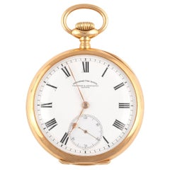 Vacheron Constantin, a Fine and Large Yellow Gold Open Face Keyless Pocket Watch