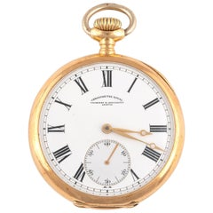 Vacheron & Constantin, an 18 Karat Gold Keyless Wind Open Face Pocket Watch