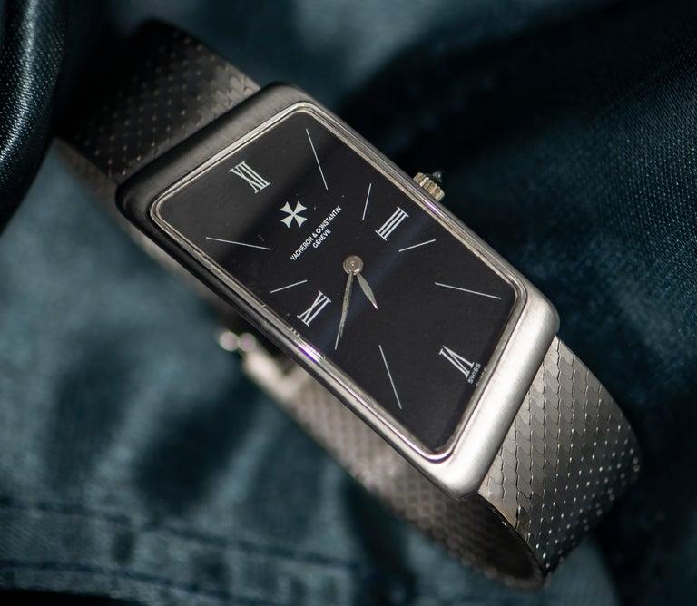 Retro Vacheron Constantin Asymmetrical 1972 Prestige De La France # 35202 Wristwatch For Sale