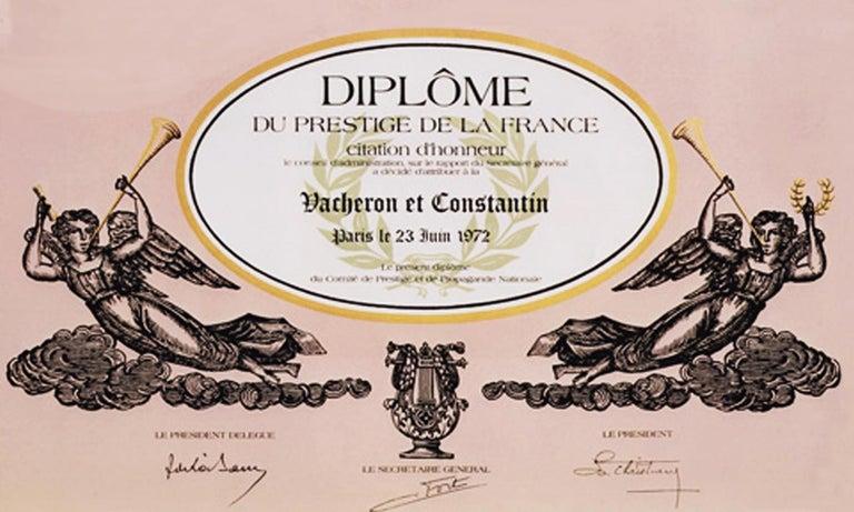 Vacheron Constantin Asymmetrical 1972 Prestige De La France # 35202 Wristwatch For Sale 1