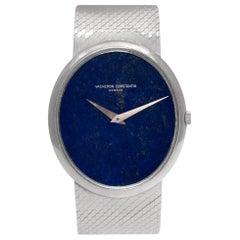Vacheron Constantin Classic 2047P 18 Karat White Gold Blue Dial Manual Watch