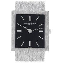 Vacheron Constantin Classic 7186 18 Karat White Gold Black Dial Manual Watch