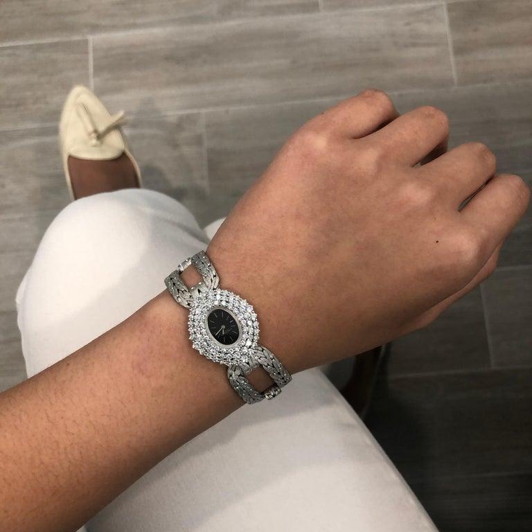 Round Cut Vacheron Constantin Diamond Ladies Wristwatch For Sale