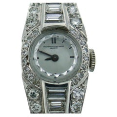 Vacheron-Constantin Diamond Platinum Bracelet Ladies Wristwatch