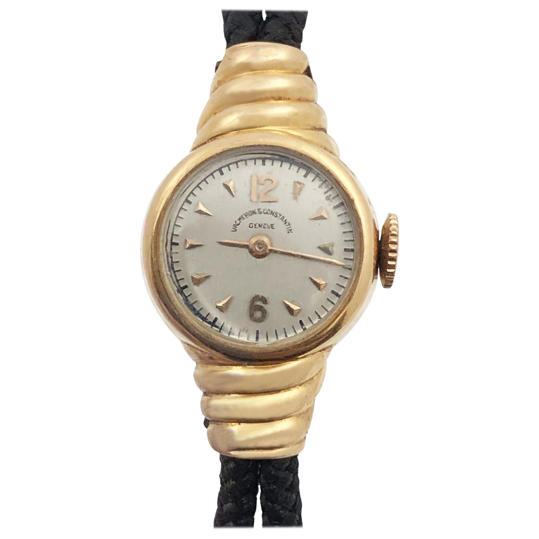 Vacheron & Constantin Ladies 1940s Rose Gold Mechanical Wristwatch