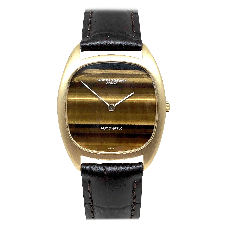 Vacheron & Constantin Large Yellow Gold Tigers Eye Dial Automatic Wristwatch