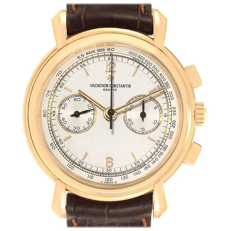 Vacheron Constantin Les Historique 18 Karat Yellow Gold Men's Watch 47101/1 For Sale