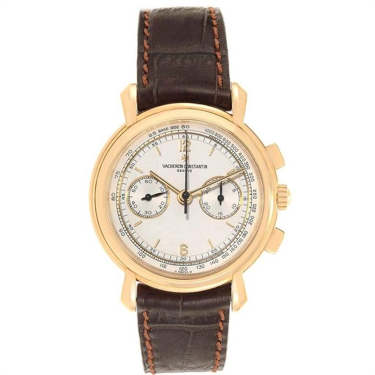 Vacheron Constantin Les Historique 18 Karat Yellow Gold Men's Watch 47101/1 In Good Condition For Sale In Atlanta, GA