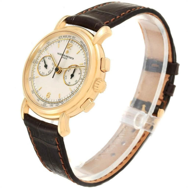 Vacheron Constantin Les Historique 18 Karat Yellow Gold Men's Watch 47101/1 For Sale 2