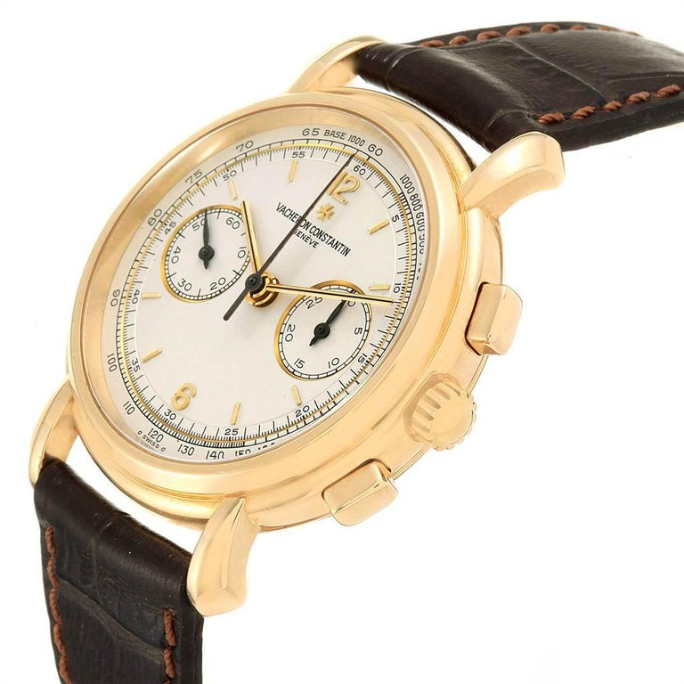 Vacheron Constantin Les Historique 18 Karat Yellow Gold Men's Watch 47101/1 For Sale 3