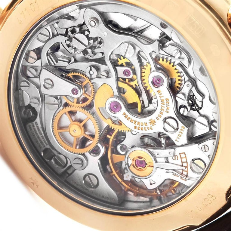 Vacheron Constantin Les Historique 18 Karat Yellow Gold Men's Watch 47101/1 For Sale 4